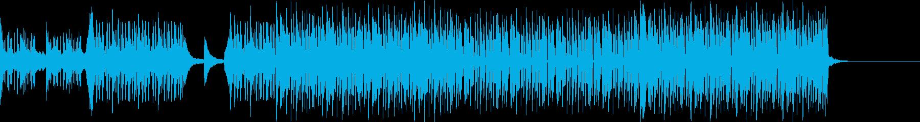 疾走感のあるタイトなビートの再生済みの波形