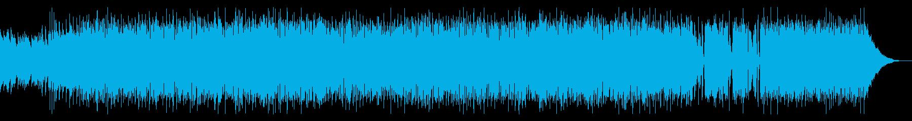 気持ちを高めるロックの再生済みの波形