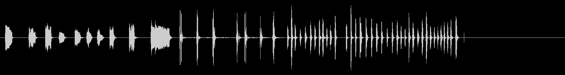 さまざまな短いトリルを演奏するピッコロ。の未再生の波形