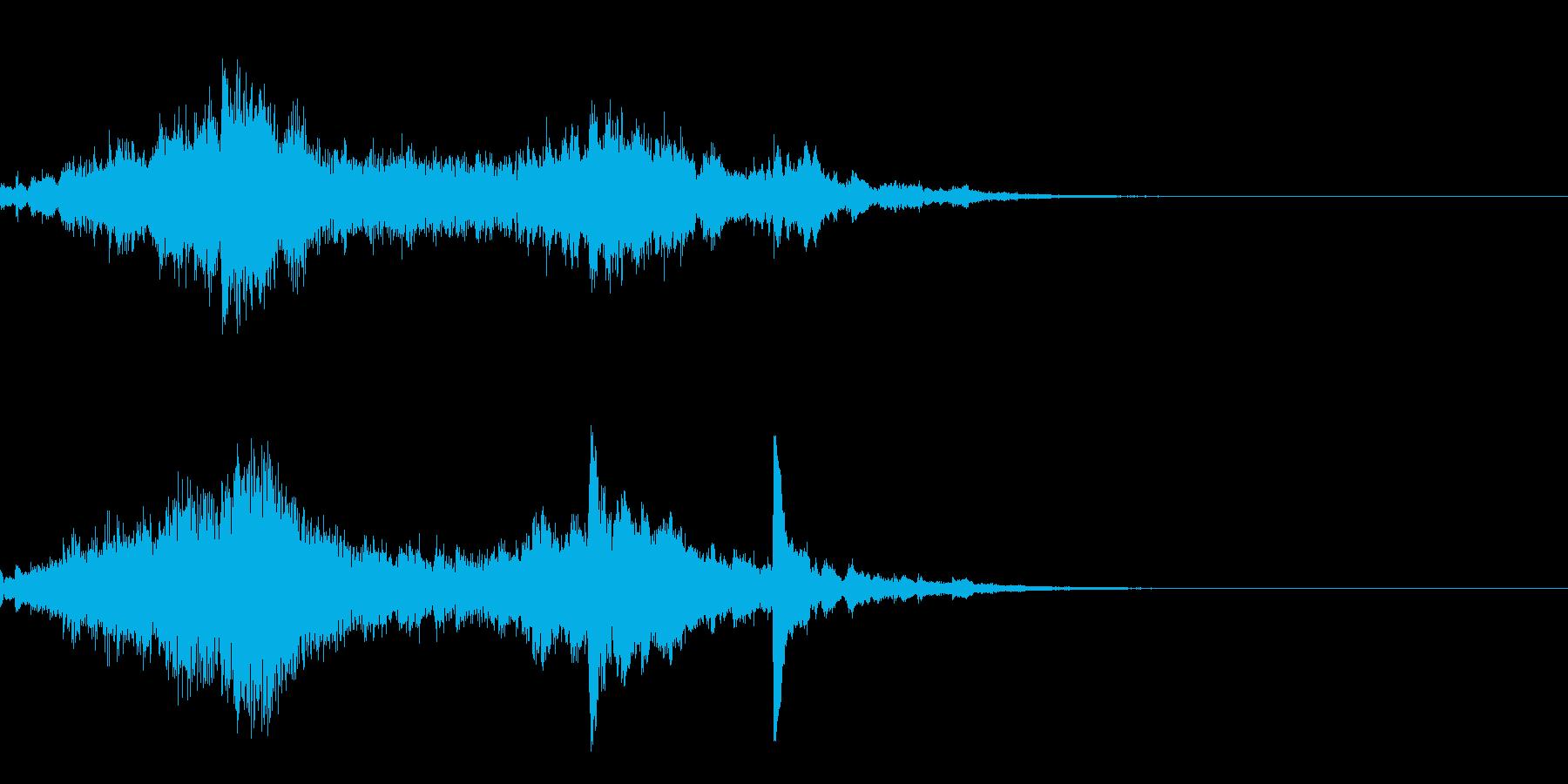 金魚が美しく優雅なピアノソロ 12秒 の再生済みの波形