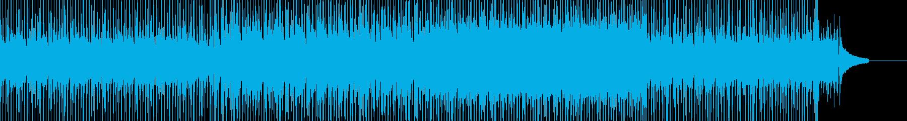 楽しい雰囲気のBGMの再生済みの波形