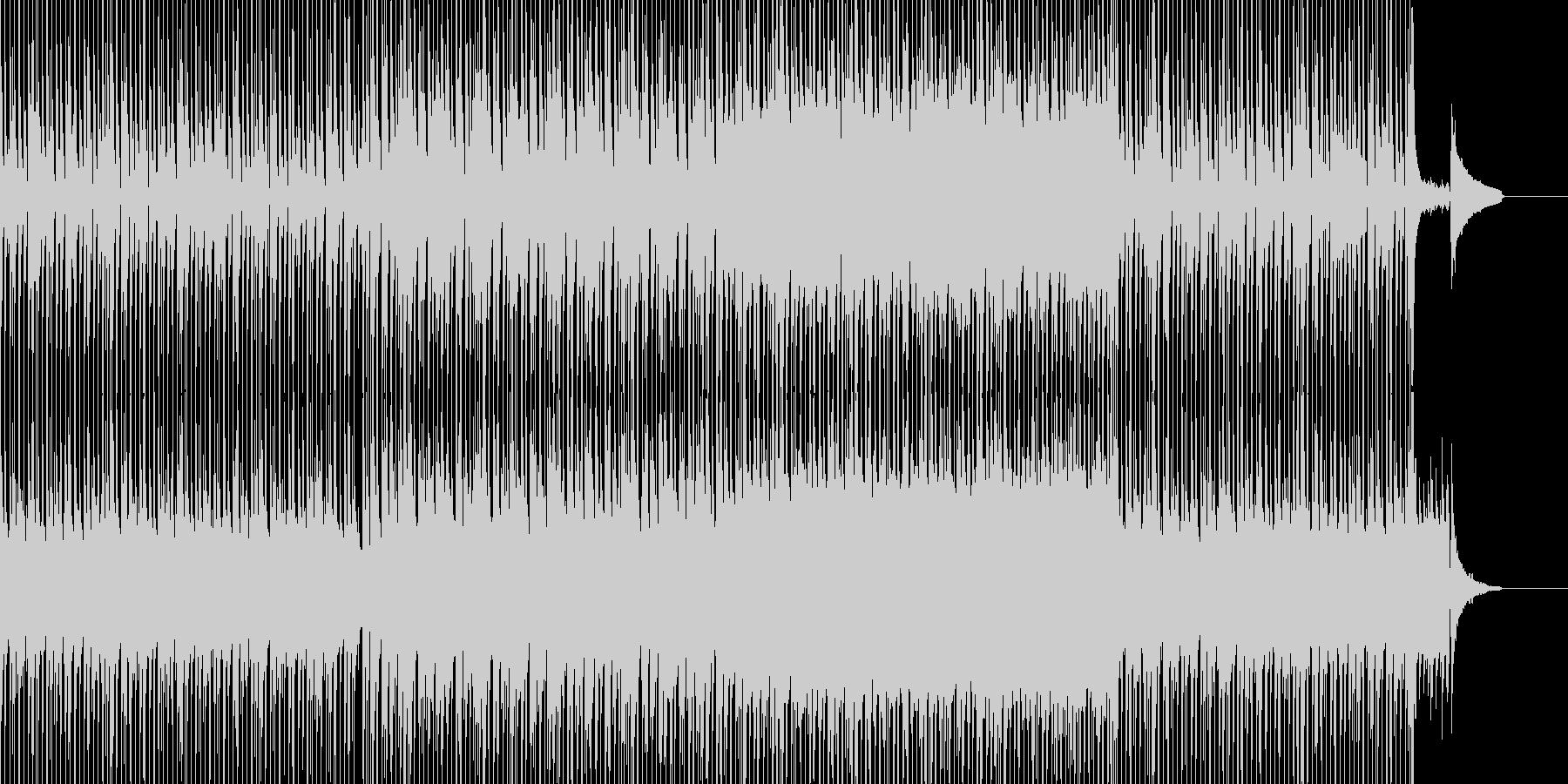 楽しい雰囲気のBGMの未再生の波形