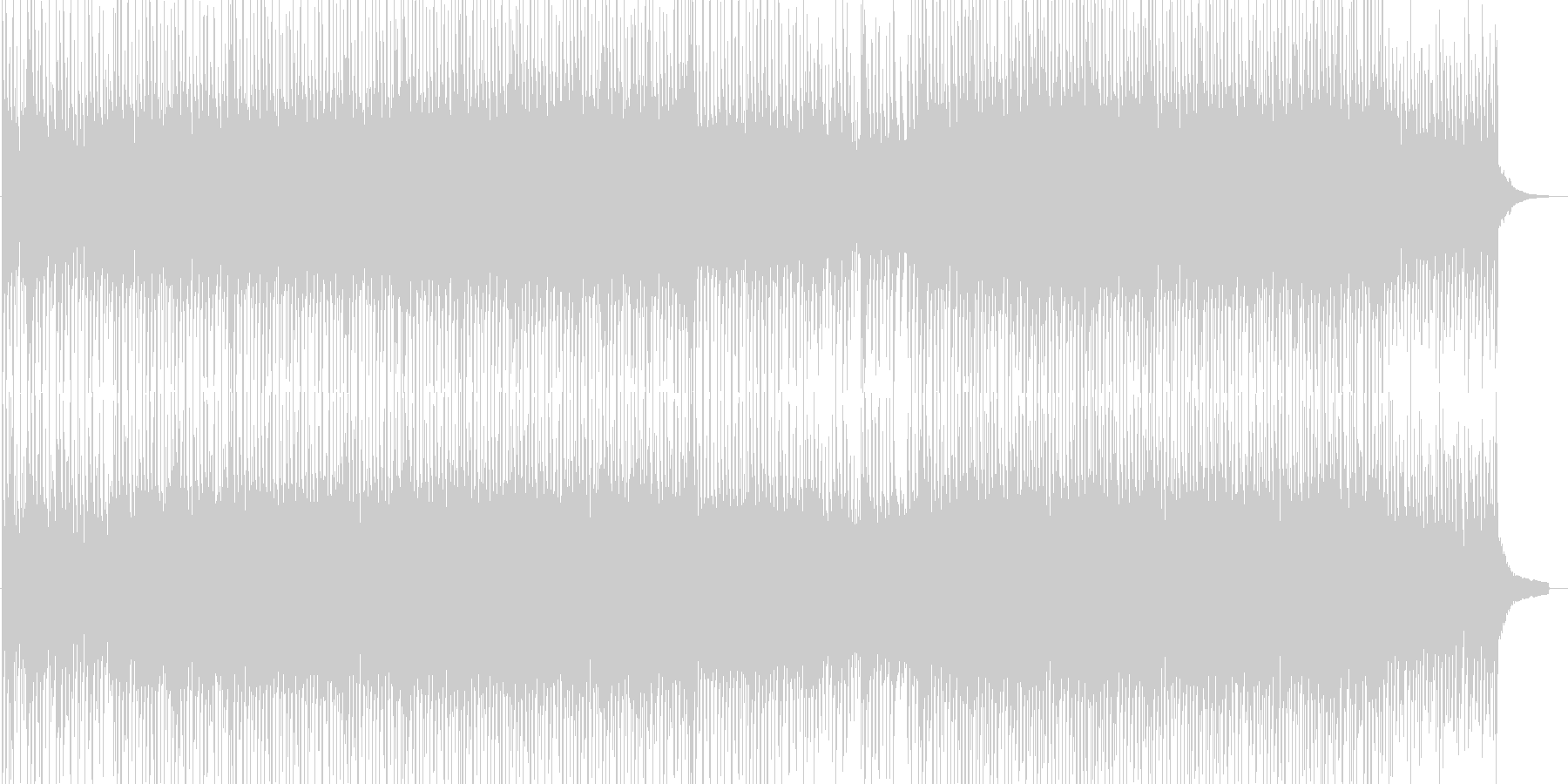 軽やかで清々しいBGMの未再生の波形