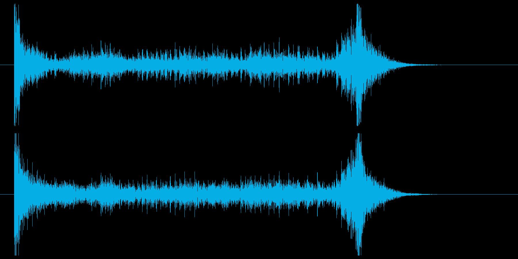 ティンパニーロール(6秒)の再生済みの波形