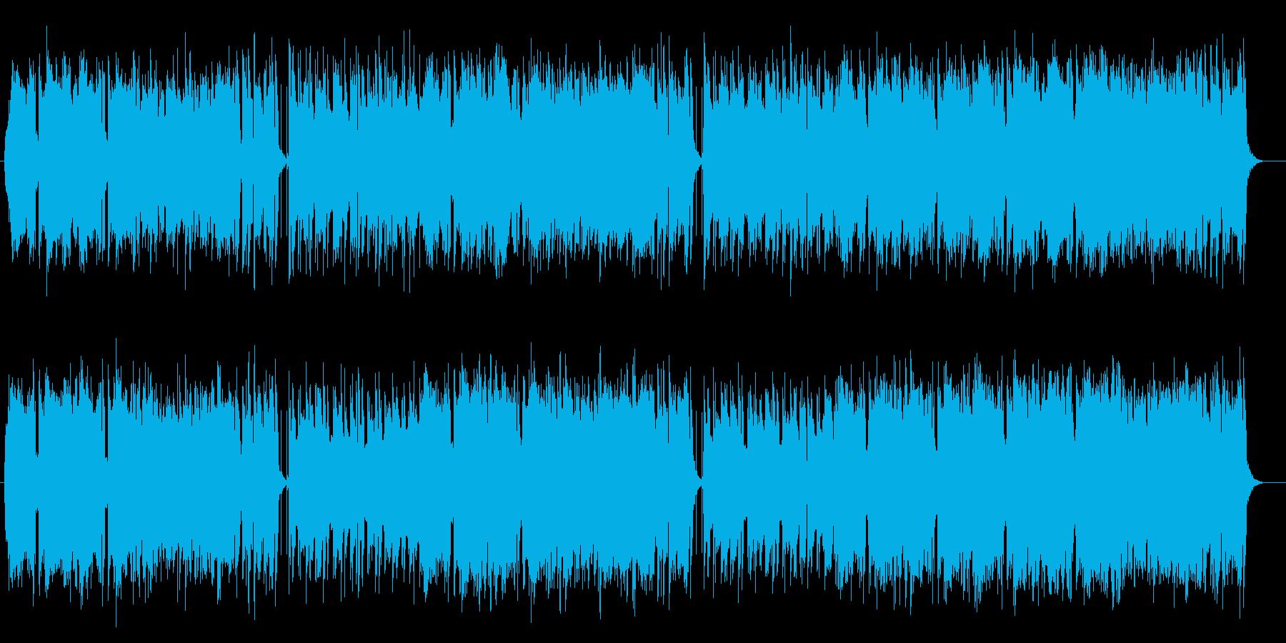 のんびりしたスローミュージックの再生済みの波形