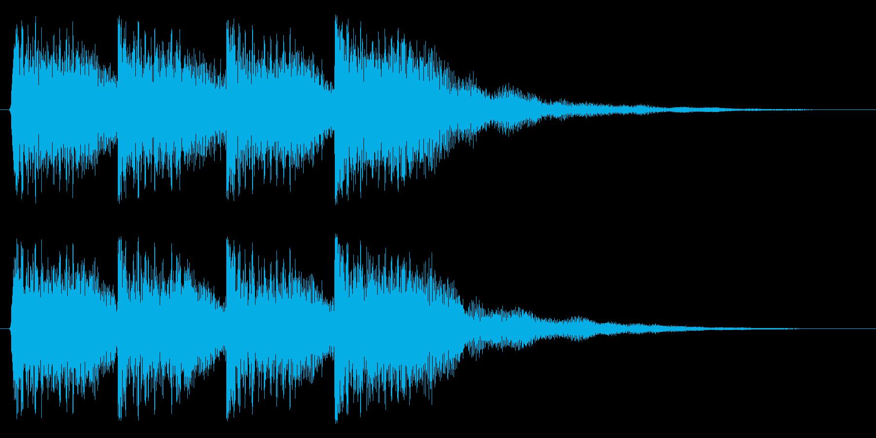 しっかりポジティブなジングルの再生済みの波形