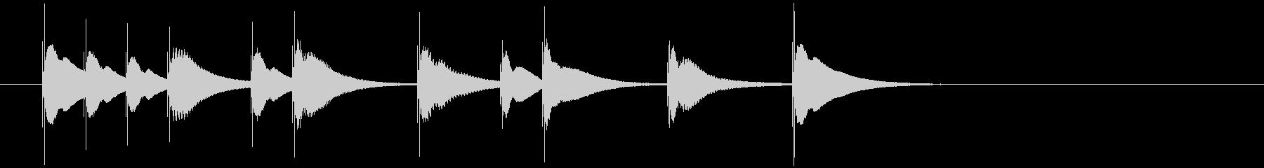 明るく可愛らしい木琴のジングル5の未再生の波形