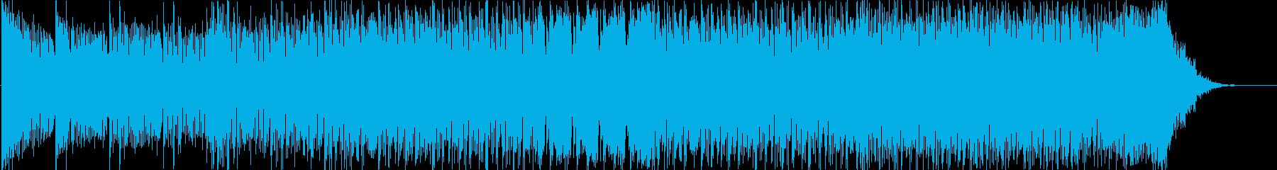 スポーツに合うギターメロのデジタルロックの再生済みの波形