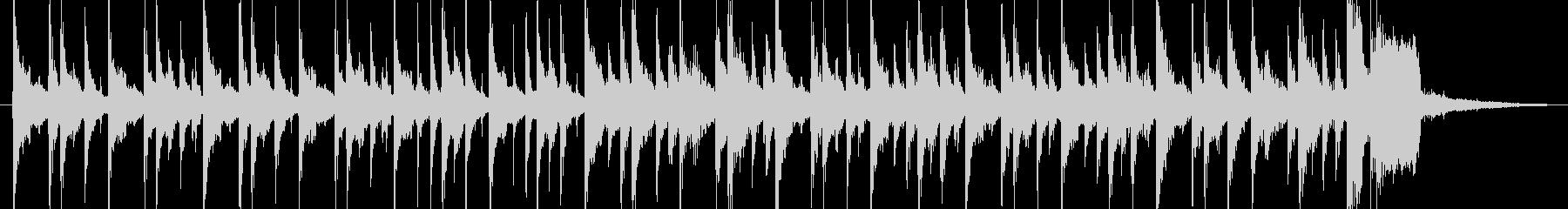 サンバっぽいリズムのんの未再生の波形