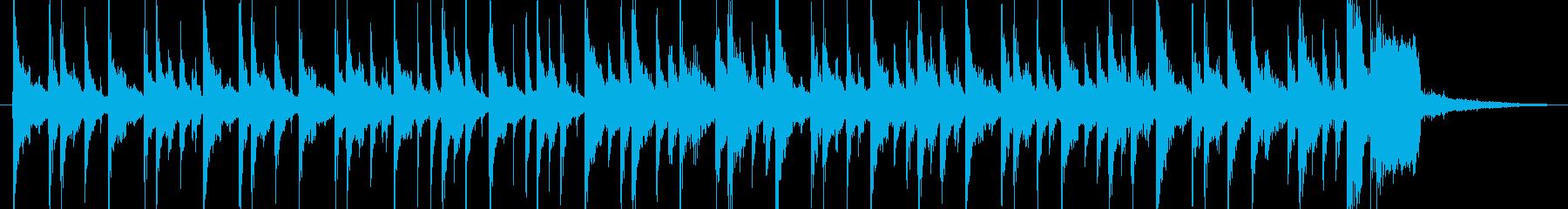 サンバっぽいリズムのんの再生済みの波形