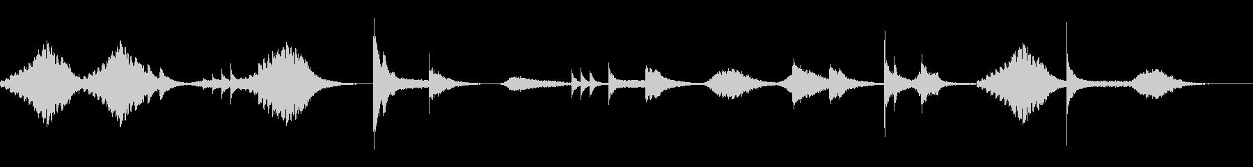 肝試し的恐怖音ひゅ〜ドロドロの未再生の波形
