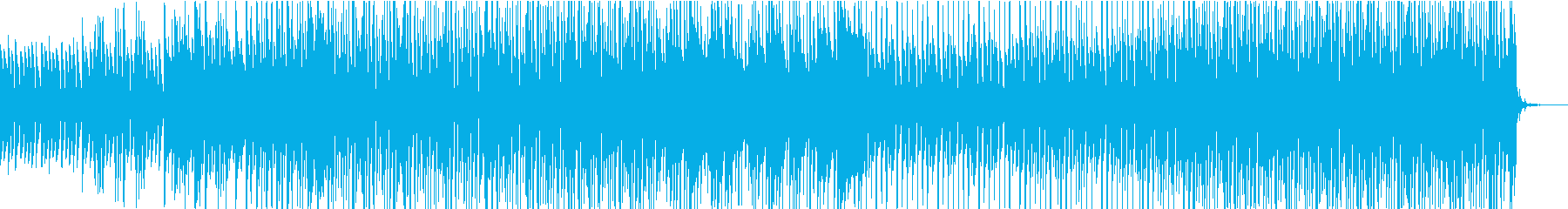 ビーチ気分を誘うトロピカルハウスの再生済みの波形