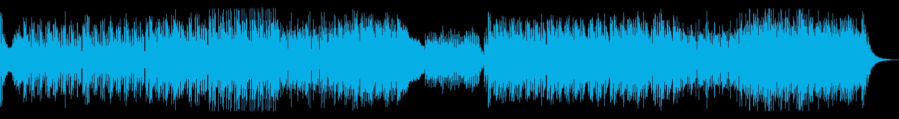 運命的、クールなシンセとストリングスの再生済みの波形