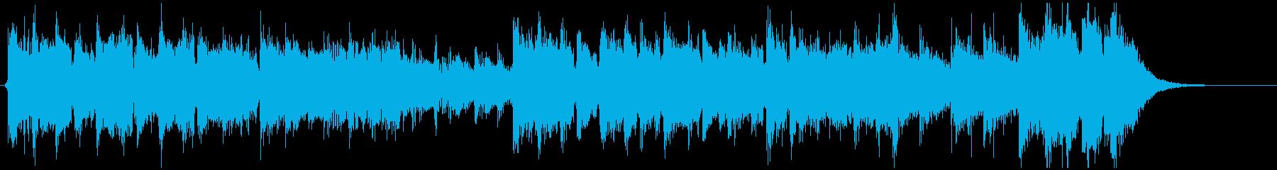 怪盗系ハードボイルドジャズのジングルBの再生済みの波形