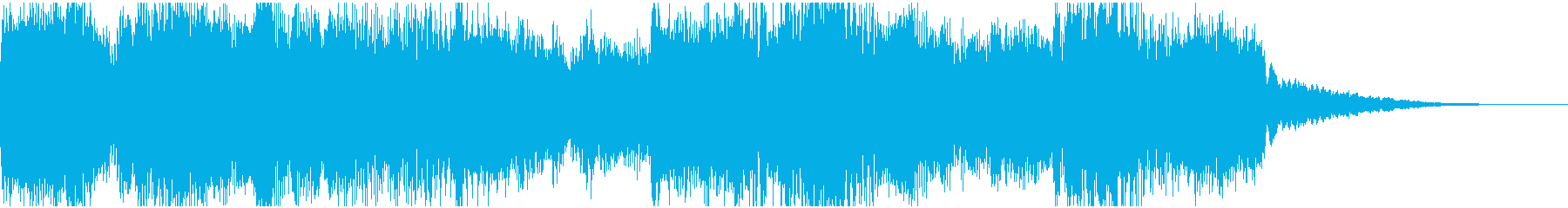 短い尺のロゴ・テーマ用の、ダークな雰囲気の再生済みの波形