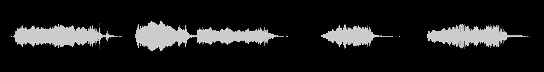 ガラス摩擦x4の未再生の波形