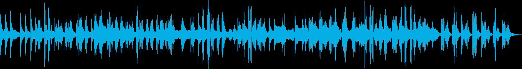 日常を感じさせる、ほのぼのしたピアノ曲の再生済みの波形
