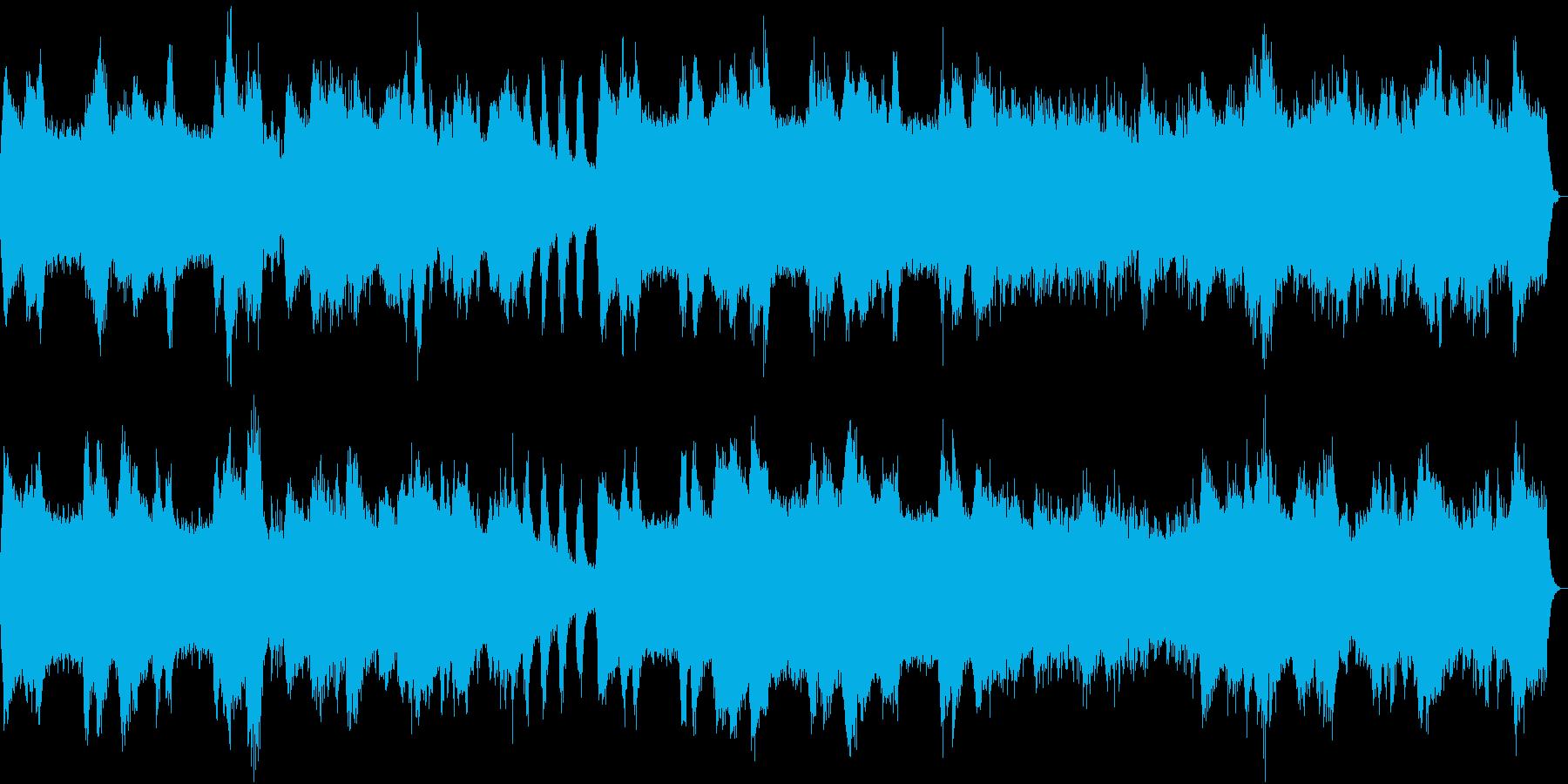 神秘的で趣のあるインストゥルメンタルの再生済みの波形