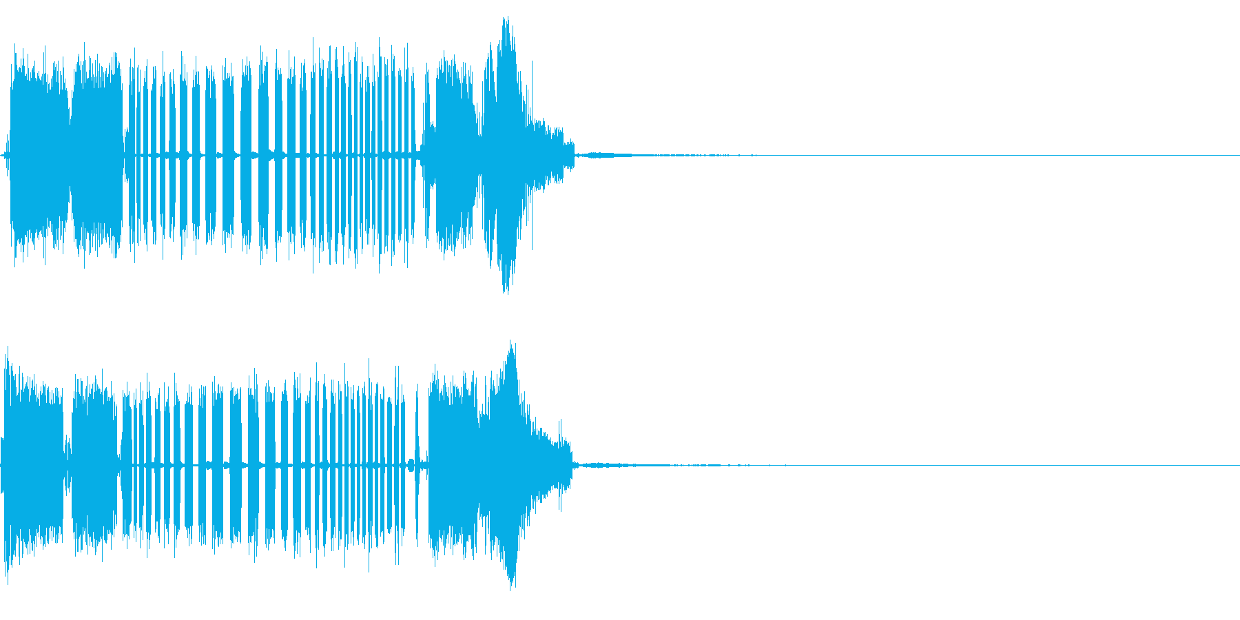 ザップアウトの再生済みの波形