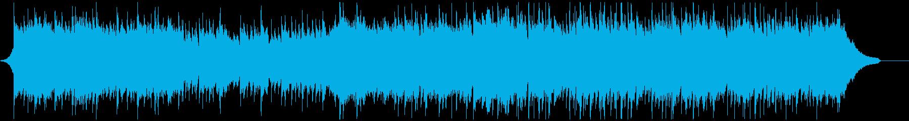 不思議な雰囲気の民族音楽風BGMの再生済みの波形