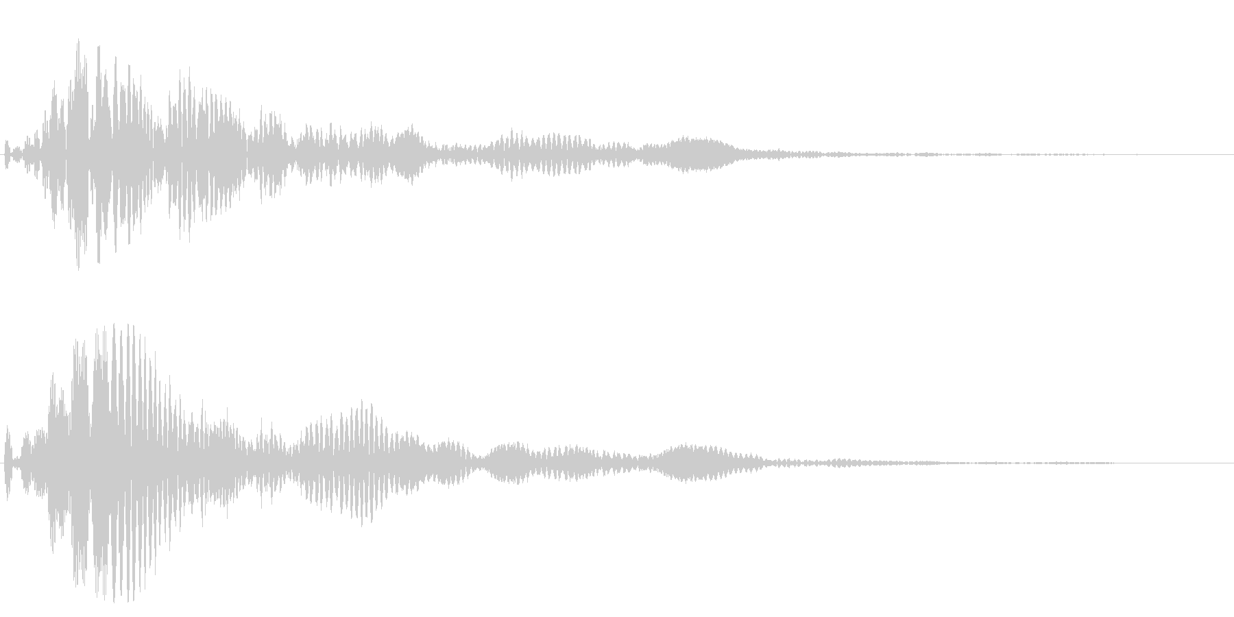 2つの音から成る落ち着いたトーンの効果音の未再生の波形