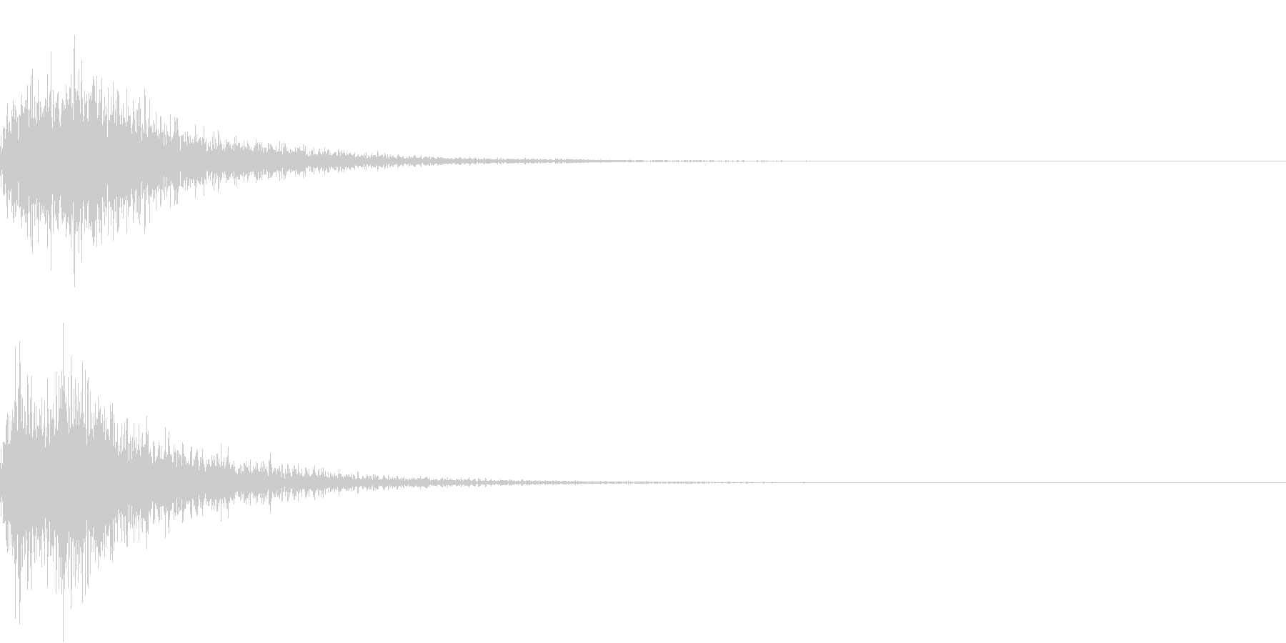 カカン!和風な歌舞伎の床音(附け木)01の未再生の波形