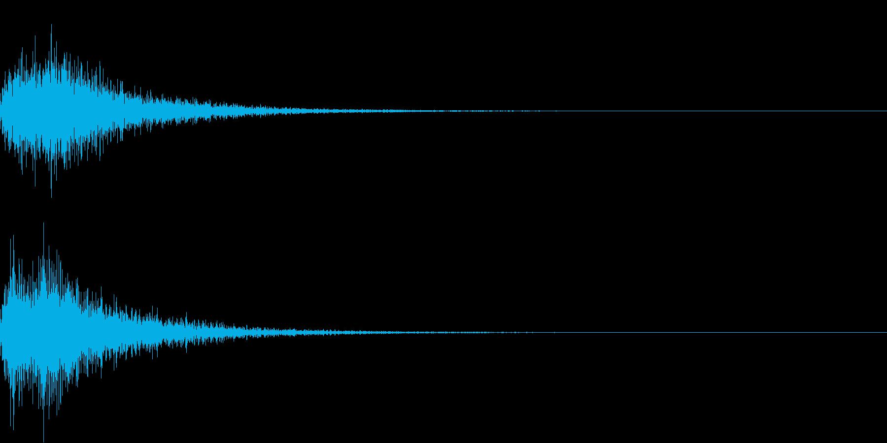 カカン!和風な歌舞伎の床音(附け木)01の再生済みの波形