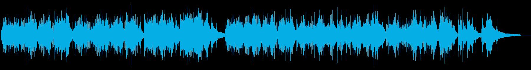 優しく温かい和風のピアノ曲の再生済みの波形