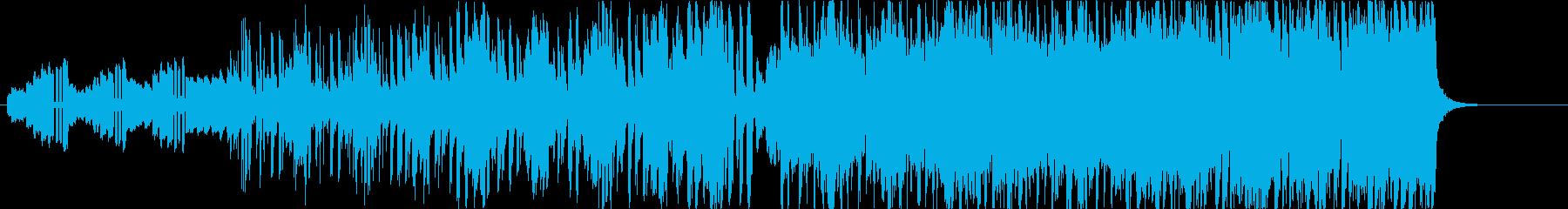 高級感と緊張感のあるBGMの再生済みの波形