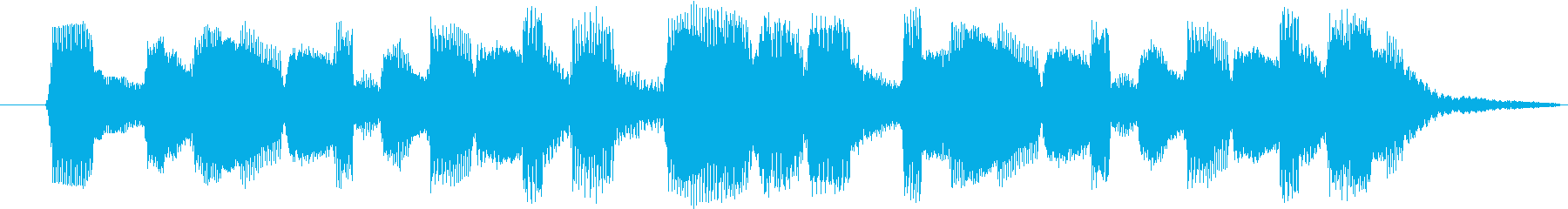ファミコン風ゲームクリア時のジングルですの再生済みの波形