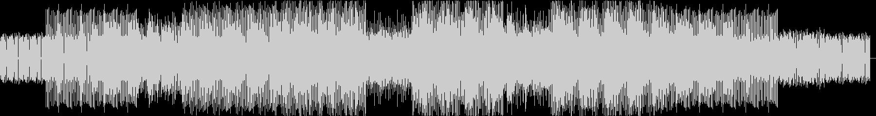 ダンサブルでファンキー、ジャズBGMの未再生の波形