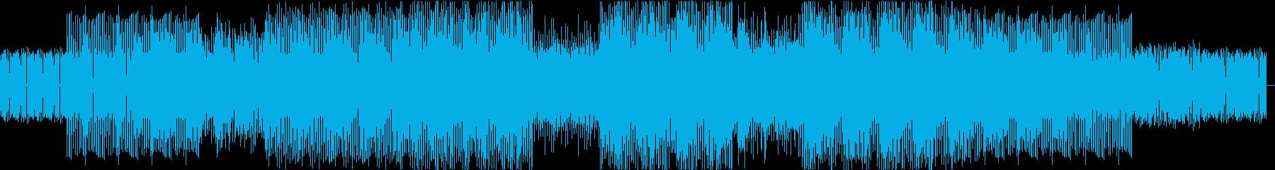 ダンサブルでファンキー、ジャズBGMの再生済みの波形