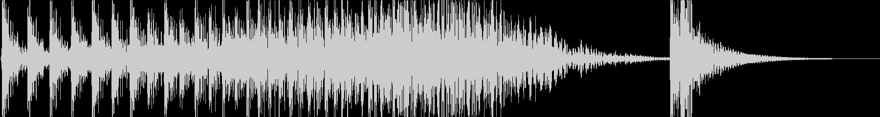 ドコドコドコ…ドドン! 和太鼓のロール音の未再生の波形