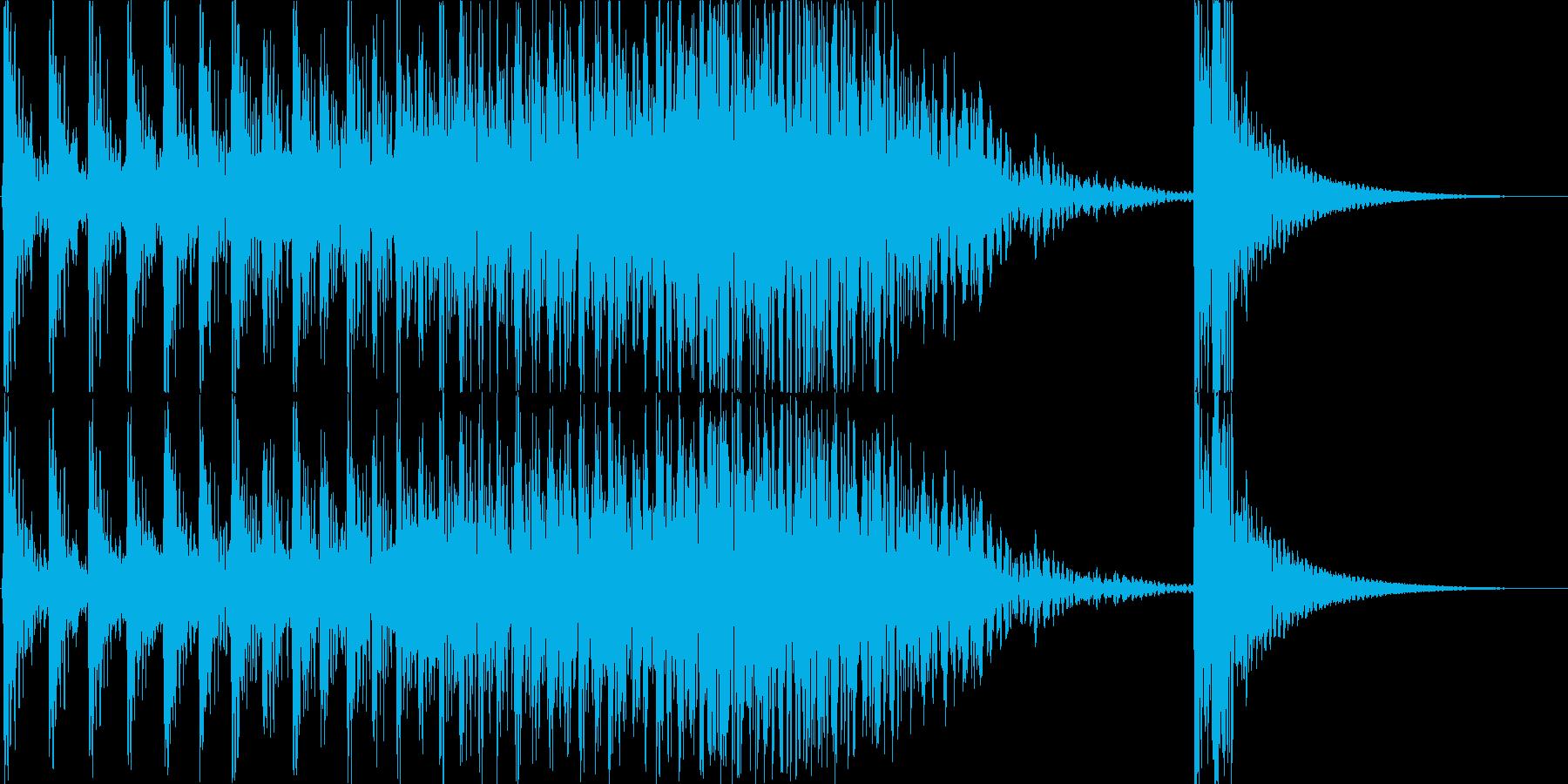 ドコドコドコ…ドドン! 和太鼓のロール音の再生済みの波形