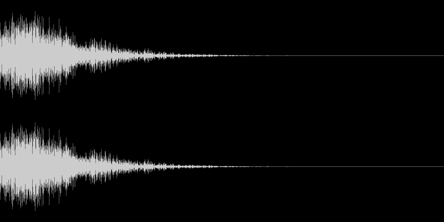シャッ(ひっかく/小動物/小攻撃)の未再生の波形