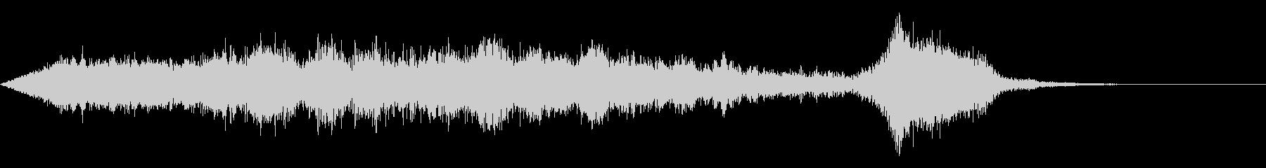 ワープ 宇宙的 未来的な効果音 04bの未再生の波形