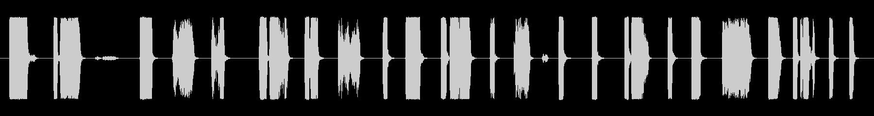 ホイッスルブロー軍用の未再生の波形