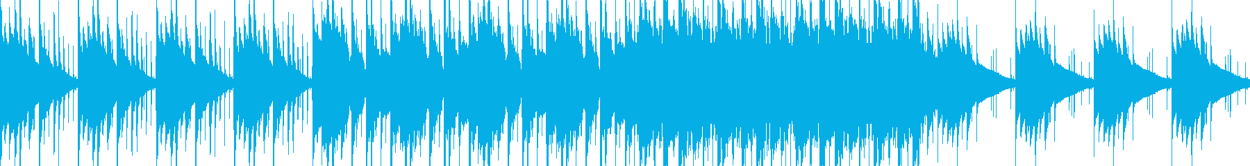 妖しい雰囲気の民族音楽風BGMの再生済みの波形