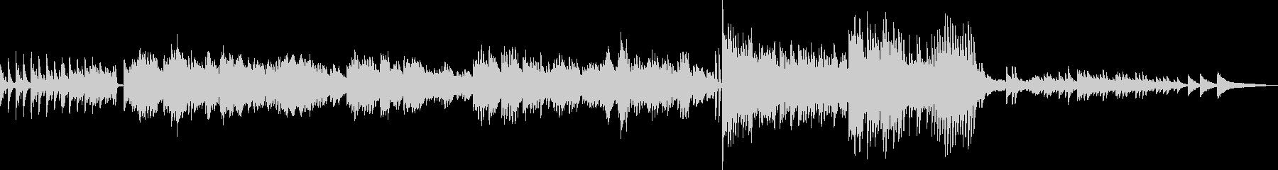 季節巡る、かわいいピアノワルツの未再生の波形