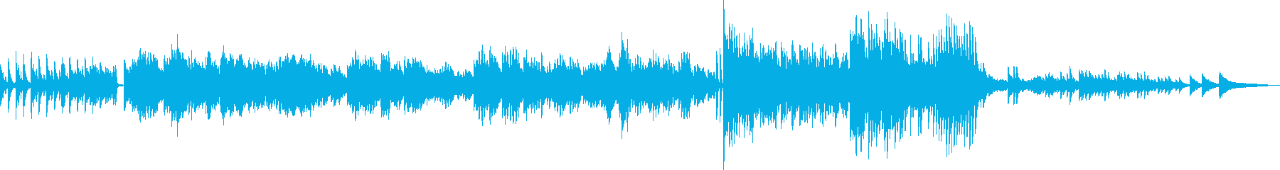 メルヘンな雰囲気が漂うピアノソロの再生済みの波形
