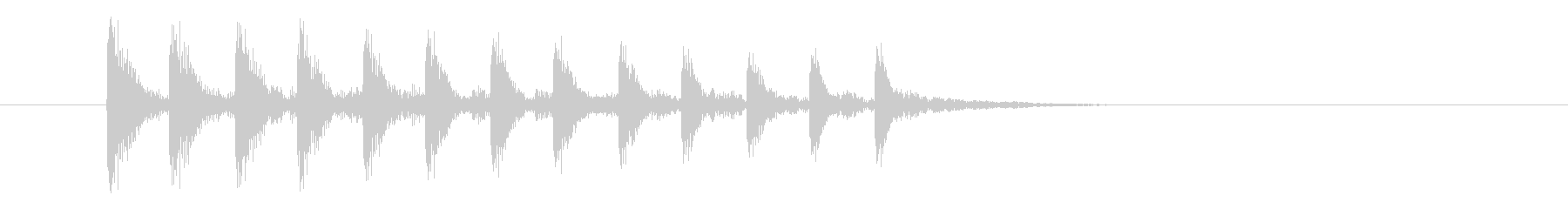 漫画木琴アセンド(高速)の未再生の波形