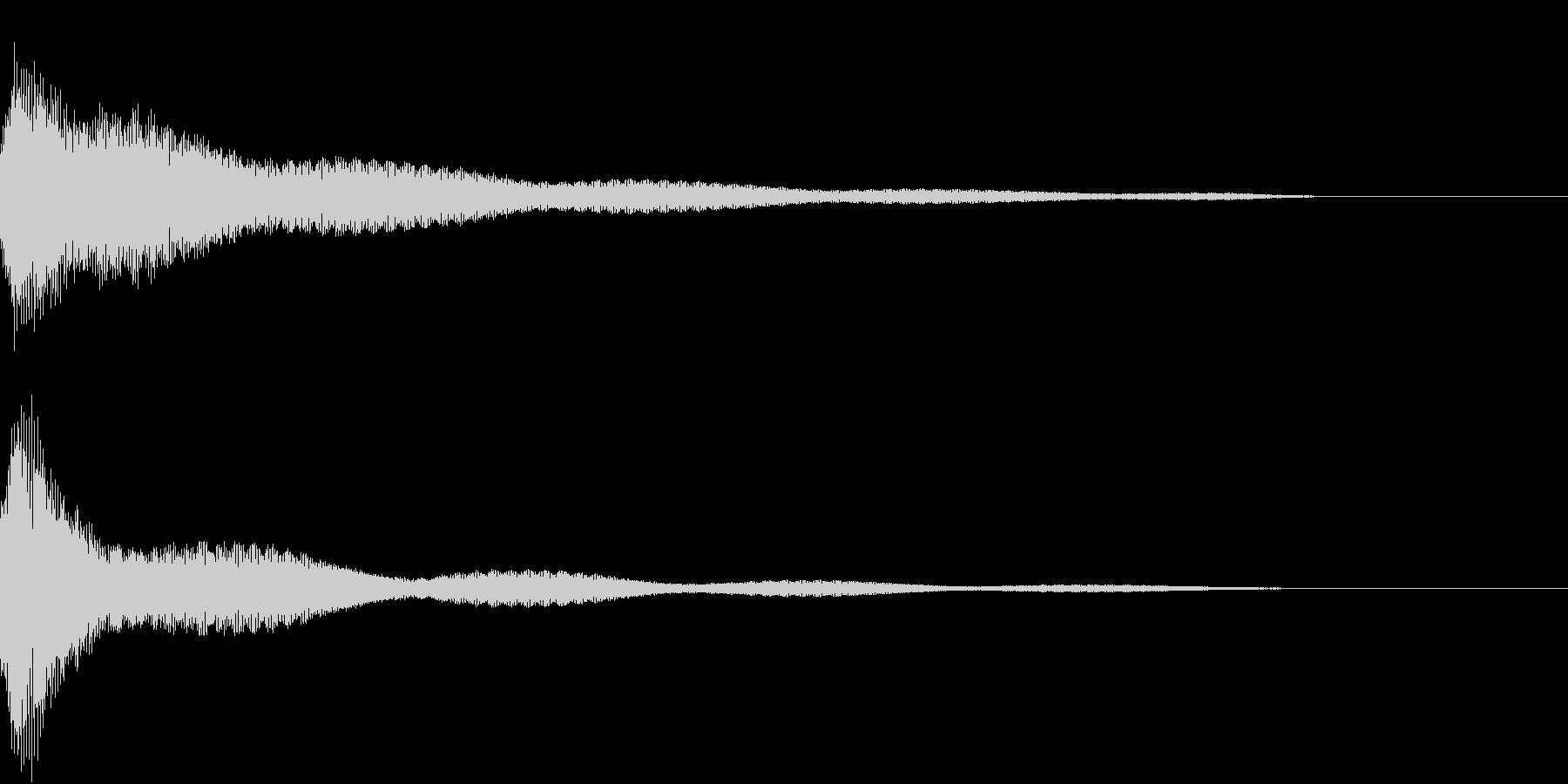 クリック キラリン 明るい 決定 09の未再生の波形