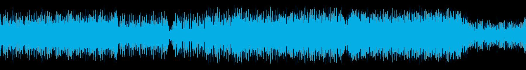 ゲーム用途、パワフルなデジロック調テクノの再生済みの波形