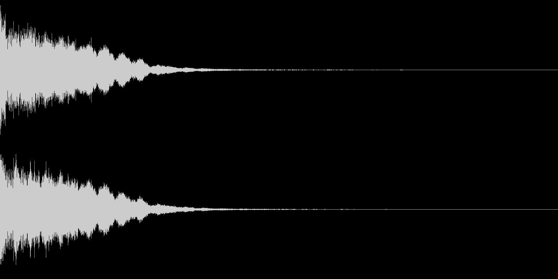 カットイン 決定 ピローン 確定 の未再生の波形