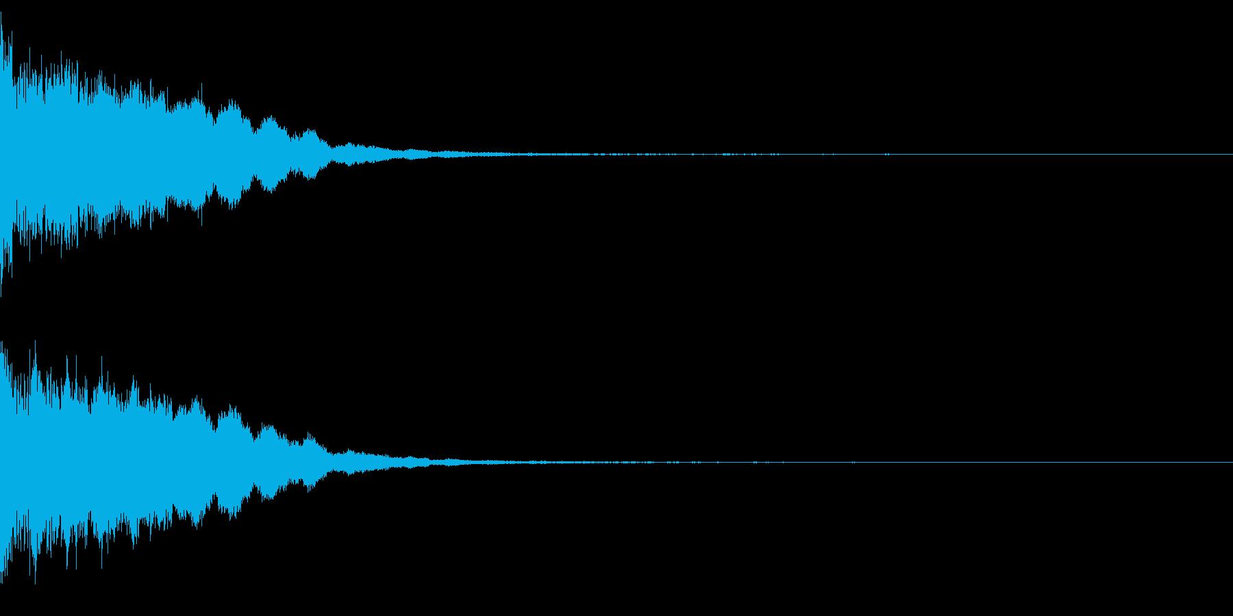 カットイン 決定 ピローン 確定 の再生済みの波形