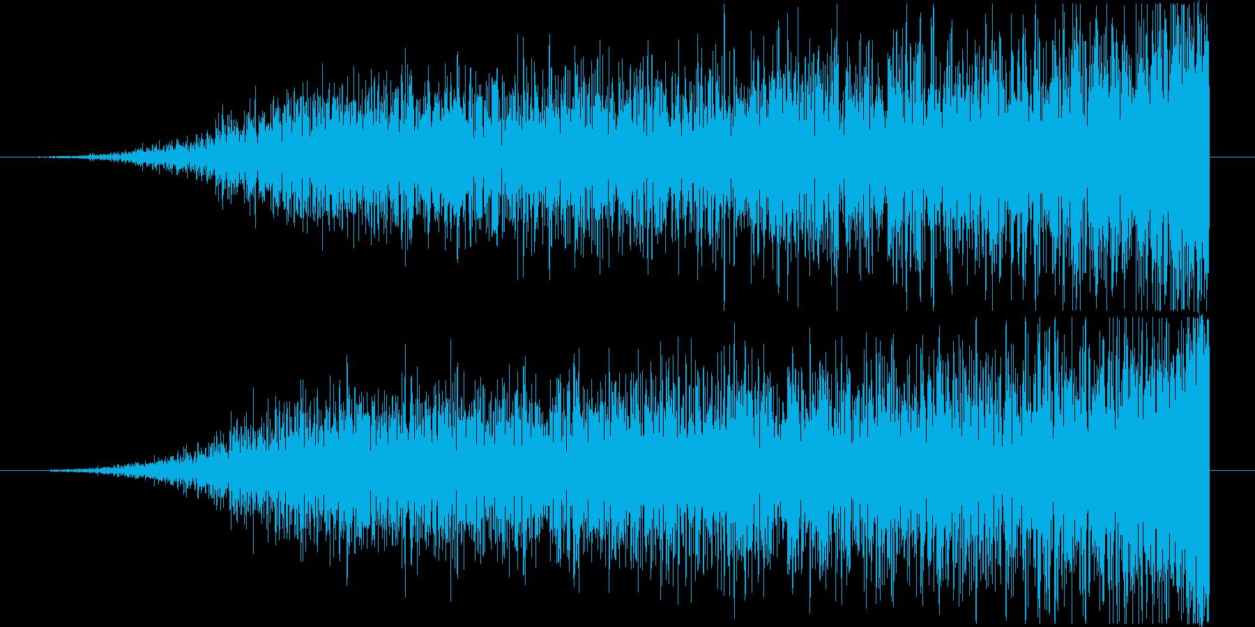 迫る音(ホラー・映画・恐怖演出・逆再生)の再生済みの波形