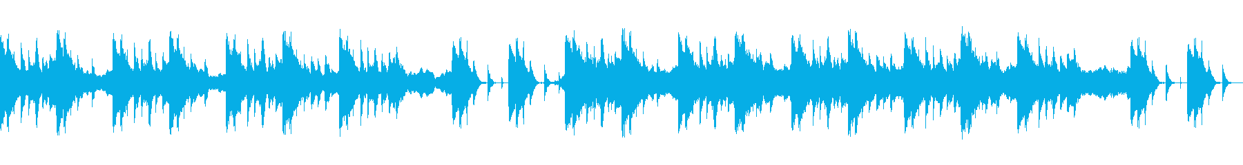 ストリングスと琴で奏でる和風BGMの再生済みの波形