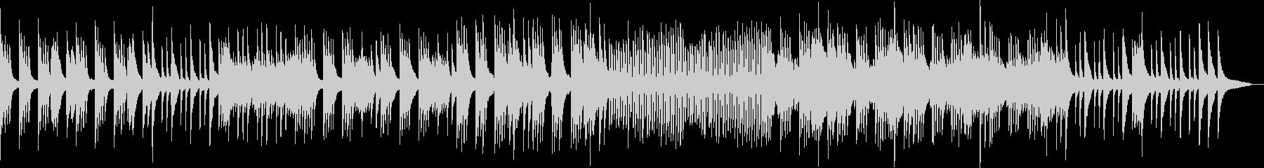 柔らかいタッチのピアノ曲の未再生の波形