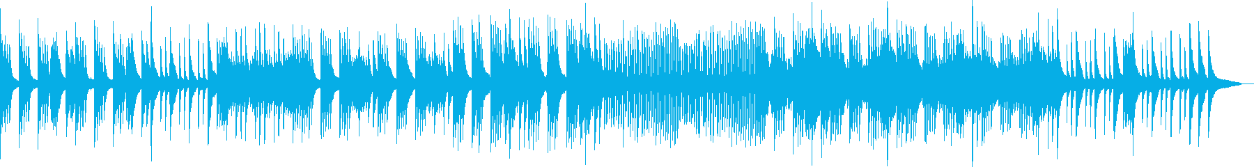 柔らかいタッチのピアノ曲の再生済みの波形