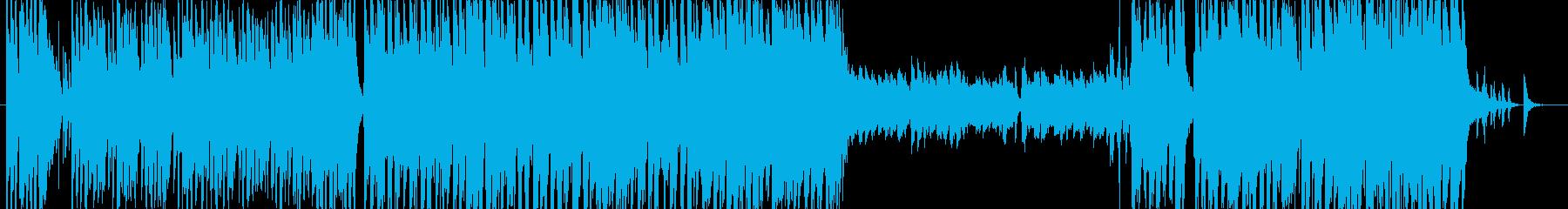 トランペットメインの軽快スウィングジャズの再生済みの波形